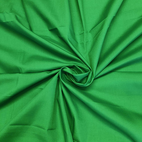 Plain Green Polycotton