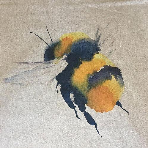 Bumble Bee Linen Panel