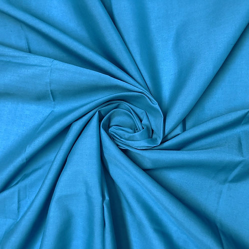 Plain Blue Polycotton