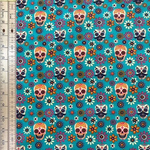 Day of The Dead on Turquoise