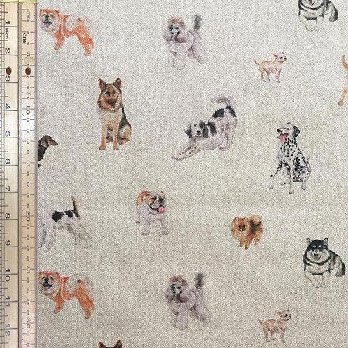 Dogs Cotton Linen