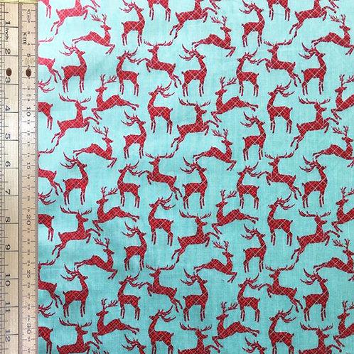 Reindeer on Turquoise