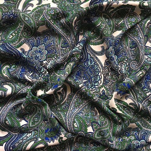 Paisley Blue and Green
