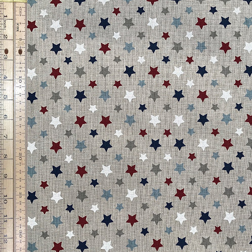 Stars Linen Canvas