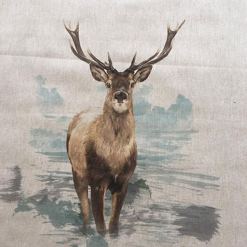 Stag Linen Panel