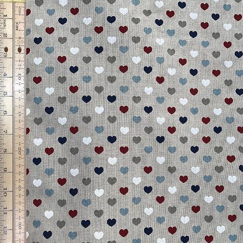 Hearts Cotton Linen