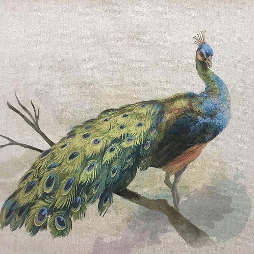 Peacock Linen Panel