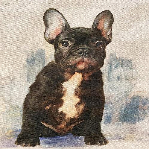 French Bulldog Linen Panel