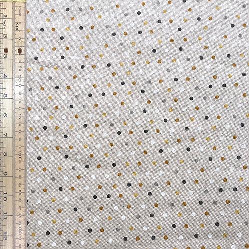 Gold Spots Cotton Linen