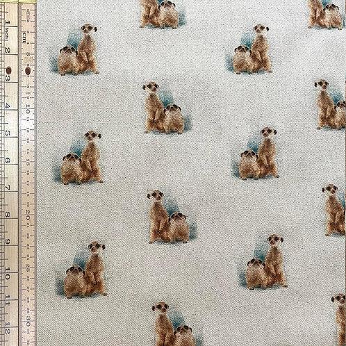 Meerkat Cotton Linen