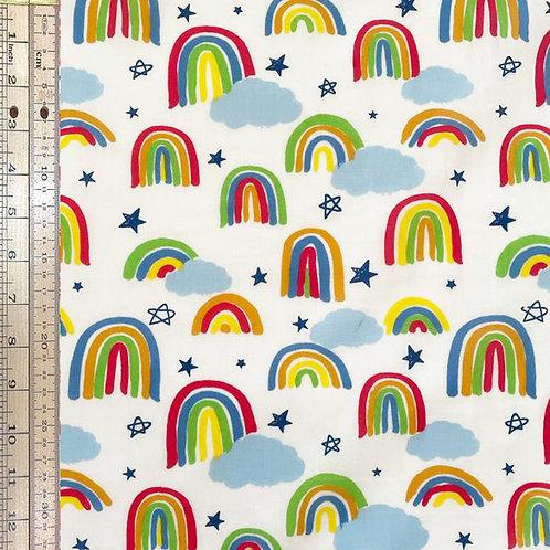 Rainbows Stars White