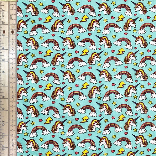 Unicorns on Turquoise