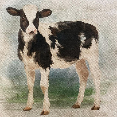 Cow Linen Panel