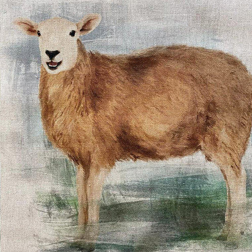 Sheep Linen Panel