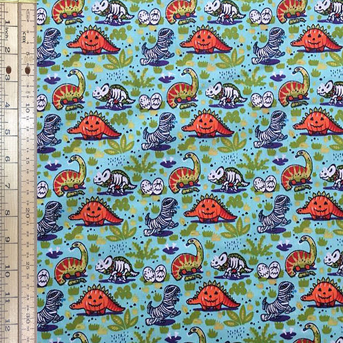 Baby Dinos on Turquoise