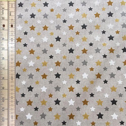 Gold Stars Cotton Linen