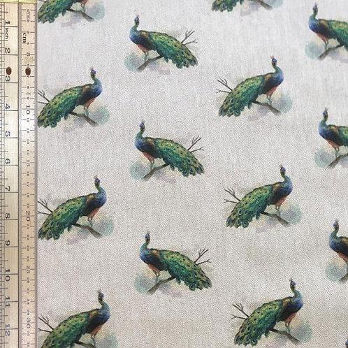 Peacocks Cotton Linen