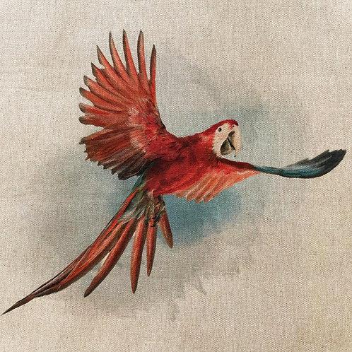 Parrot Linen Panel