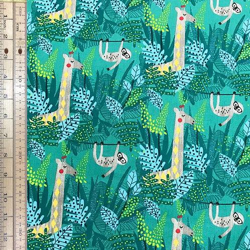 Giraffes and Sloths Green