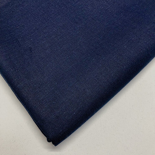 Plain Navy Cotton