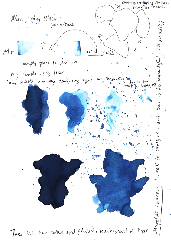Blue ink series, 2011