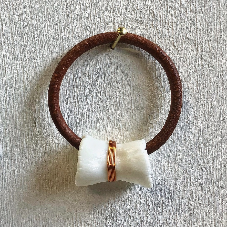 Leather, parian, copper