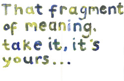 Fragment of meaning, 2010