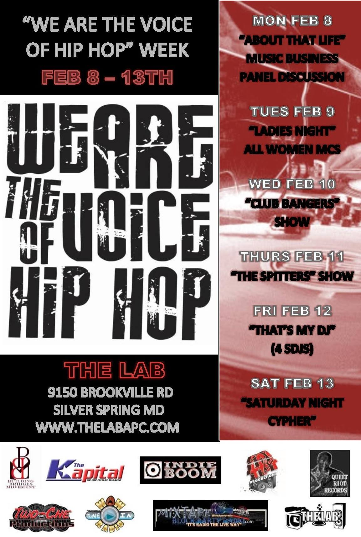 WE ARE THE VOICE OF HIP HOP WEEK