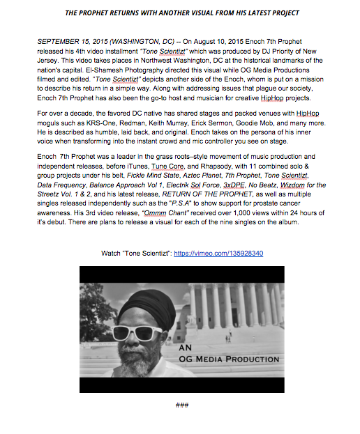 ROTP Video Press Release