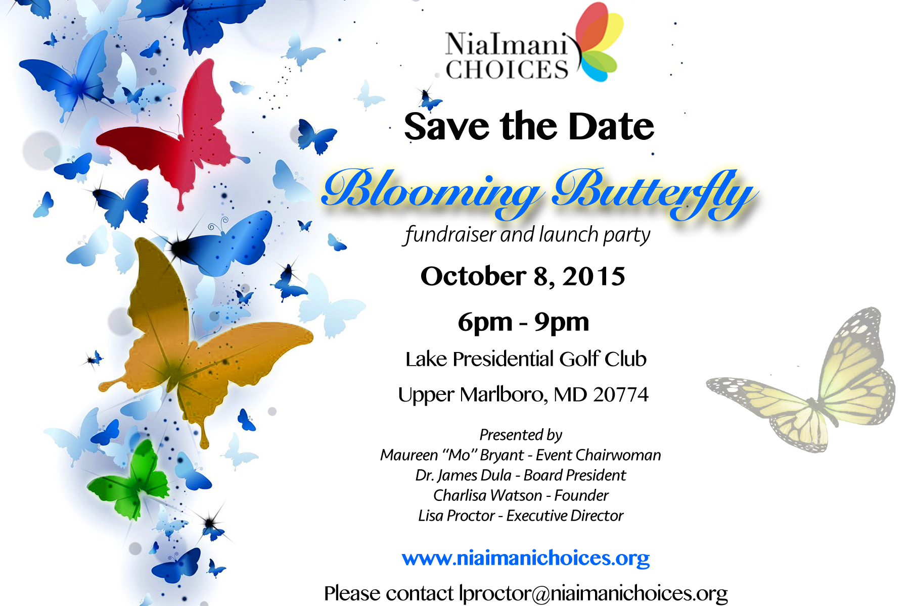 Save the Date: Blooming Butterfly