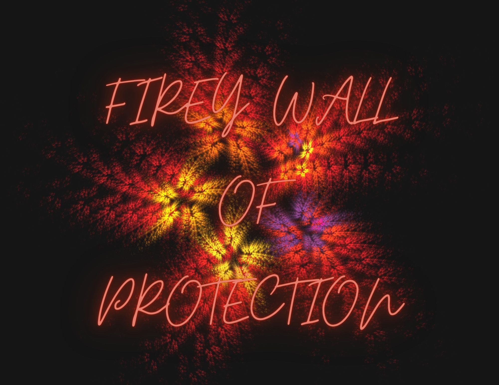 Firey Wall of Protection Candle