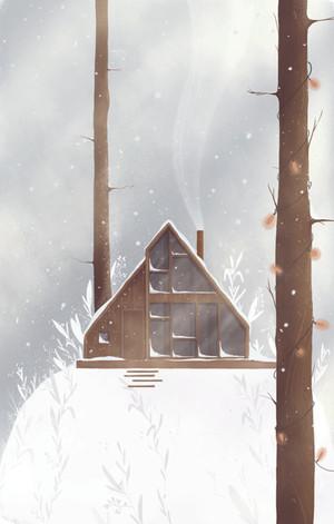 zimowy las   winter forest