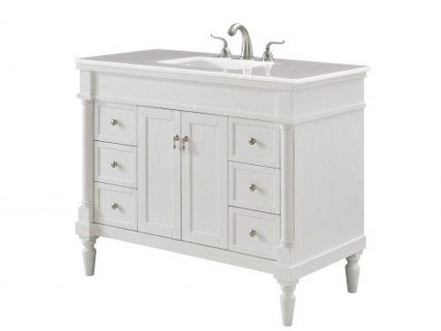 """Elegant Lexington 42"""" Vanity with Drawers"""