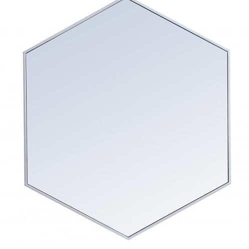 "Elegant Decker 32"" Hexagon Wall Mirror"