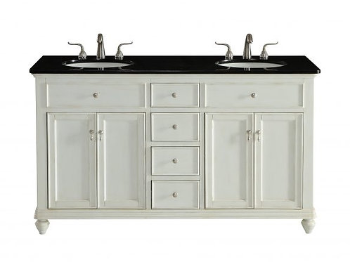 "Elegant Otto 60"" Double Vanity with Drawers"