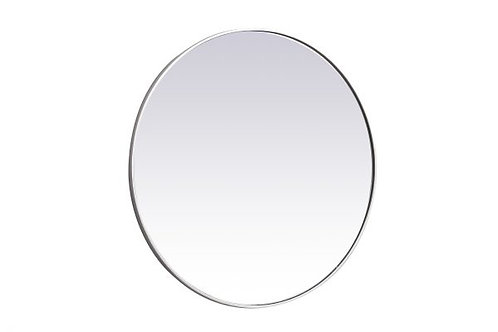 "Elegant Eternity 39"" Round Wall Mirror"