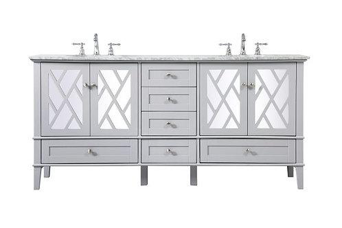 "Elegant Luxe 72"" Double Vanity with Drawers"