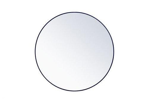 "Elegant Rowan 48"" Round Wall Mirror"