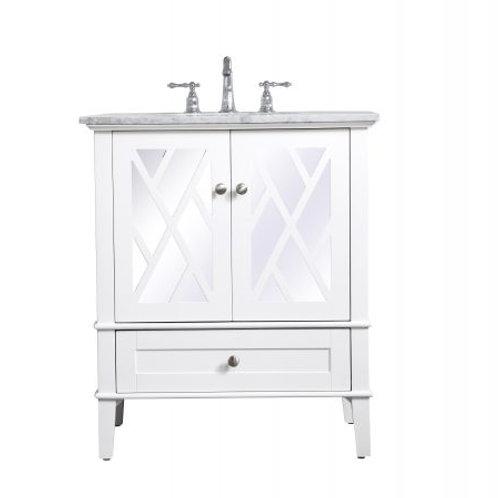 "Elegant Luxe 30"" Vanity with Drawer"