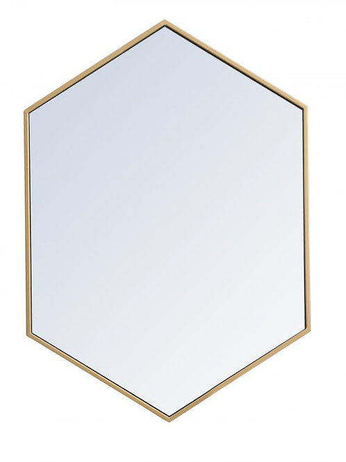 "Elegant Decker 24"" Hexagon Wall Mirror"