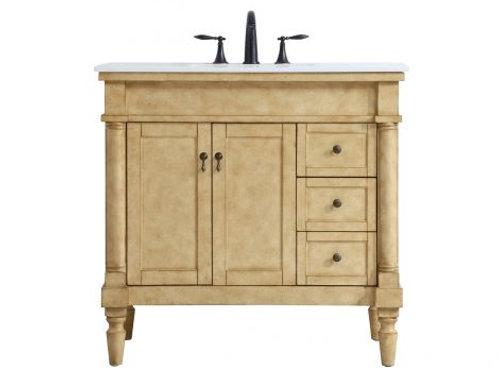 """Elegant Lexington 36"""" Vanity with Drawers"""