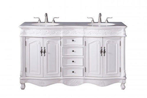 "Elegant Windsor 60"" Double Vanity with Drawers"