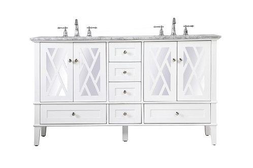 "Elegant Luxe 60"" Double Vanity with Drawers"