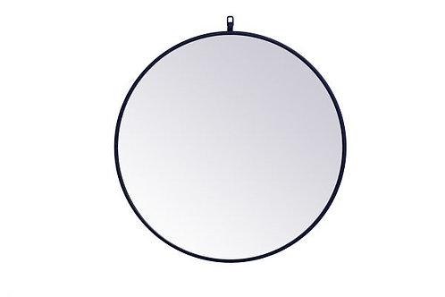 "Elegant Rowan 28"" Round Wall Mirror"
