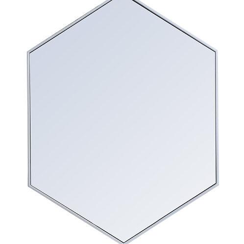 "Elegant Decker 30"" Hexagon Wall Mirror"