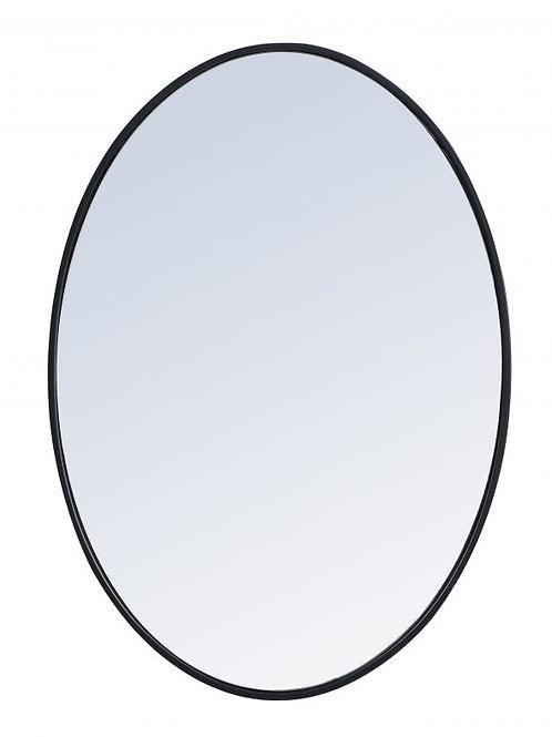 "Elegant Decker 24"" Oval Wall Mirror"