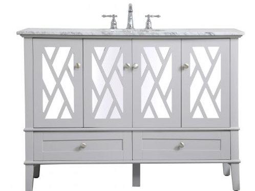 "Elegant Luxe 48"" Vanity with Drawers"
