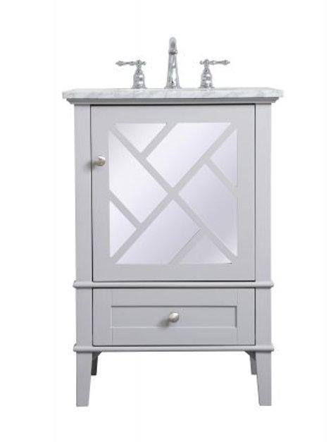 "Elegant Luxe 24"" Vanity with Drawer"