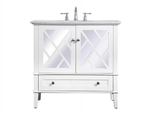 "Elegant Luxe 36"" Vanity with Drawer"