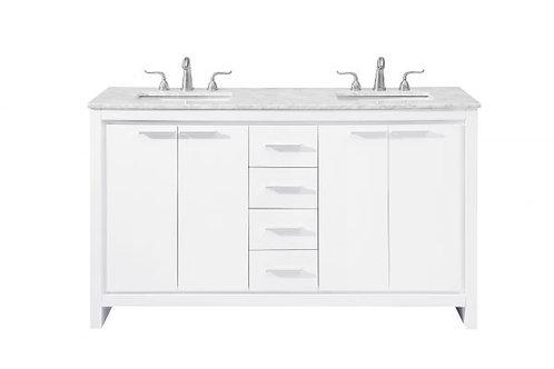 "Elegant Filipo 60"" Double Vanity with Drawers"